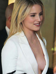 Dianna Agron shows some hot braless sideboob