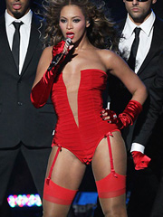 Beyonce Knowles nasty in red lingerie