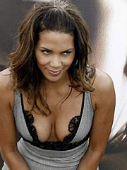 Halle Berry gets her big boobs squeezed in shirt
