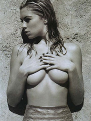 Abigail Clancy naked poses for hunger magazine