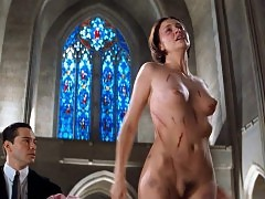 Charlize Theron Nude Tits & Bush In 'The Devils Advocate�...