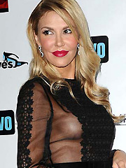 Brandi Glanville shows see through sideboob