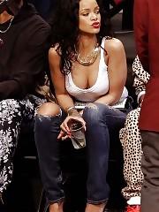 Rihanna Hard Nipples In Public