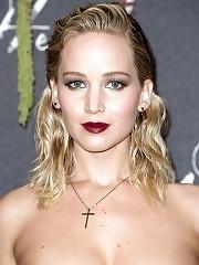 Jennifer Lawrence sexy boobs at paris