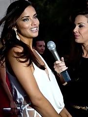 Adriana Lima looking beautiful in tight dress