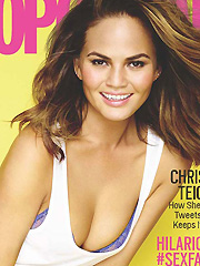 Christine Teigen drops some hot cleavage