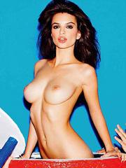 Emily Ratajkowski busty lingerie photoshoot