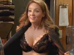 Erika Christensen busts hot cleavage in bra