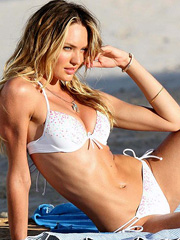 Candice Swanepoel bikini hotness at them beach