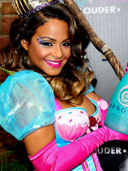 Christina Milian oops slight nipple slip