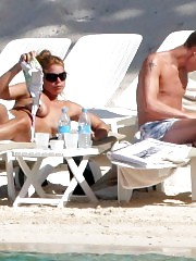 Billie Piper Nude Tits With Laurence Fox — Candid Photos !