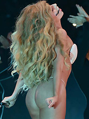 Lady Gaga nude booty in a g-string on stage