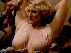 Cynthia Ettinger boobs in wet see-thru dress