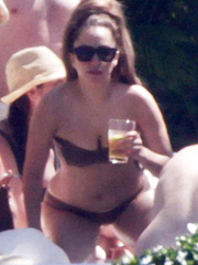 Lady Gaga caught in a bikini by the pool