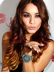 Vanessa Hudgens hot blowing kisses for charity