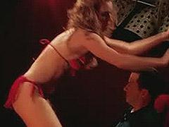 Alicia Witt hot ass as she dances at a strip club