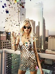 Cara Delevingne Tits In See Through Dress For Jimmy Choo 201...