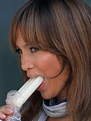 Jennifer Lopez licking icecream and nice see thru