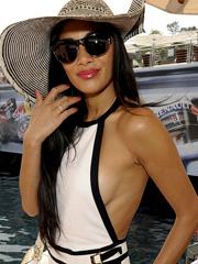 Nicole Scherzinger side boob spectacular