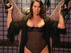 Amy Landecker nipples in a see thru bodice