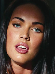 Megan Fox busting out in red hot dress