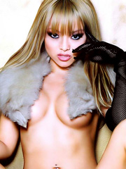 Tila Tequila nipples poking through tube top