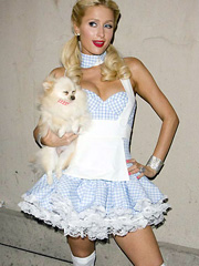 Paris Hilton sexy in halloween costume