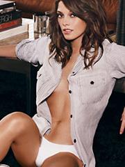 Ashley Greene topless and hot underwear