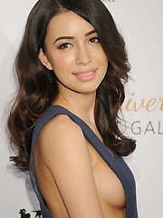 Christian Serratos sideboob on the red carpet