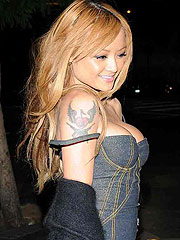 Tila Tequila lovely boobs squeezed in black bra