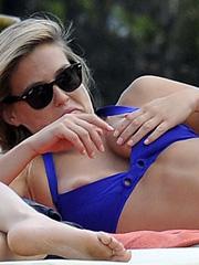 Bar Refaeli oops nipple slip in a bikini