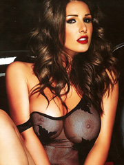 Lucy Pinder see through top and topless