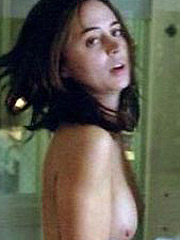 Eliza Dushku showing her very sexy nude tits