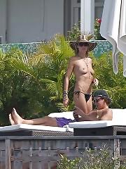Heidi Klum topless in France