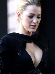 Blake Lively busts out fantastic cleavage