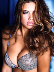 Adriana Lima big boobs in sexy lingerie