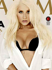 Christina Aguilera gets hot and busty for maxim