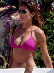 Elisabetta Canalis sunbathing big tits