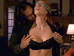 Angie Everhart in hot fully nude sex scene