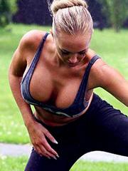 Aisleyne Horgan-Wallace boobs falling out