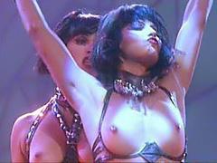 Elizabeth Berkley sexy topless dance on stage