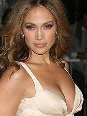 Jennifer Lopez big boobs in sexy white dress
