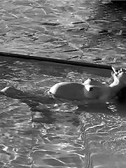 Behati Prinsloo nude in pool pregnant