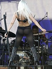 Lady Gaga showing magnificent ass in thongs