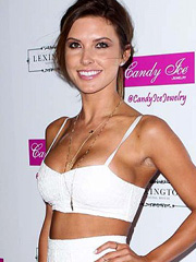 Audrina Patridge busts out big fake cleavage