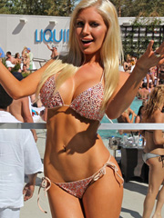 Heidi Montag big boobs in a little bikini
