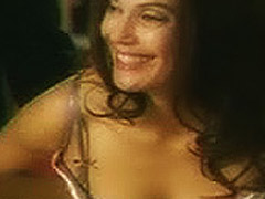 Teri Hatcher big cleavage boobs in public