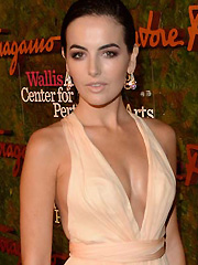 Camilla Belle busts some nice little cleavage