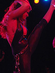 Carmen Electra doing striptease dance in vegas