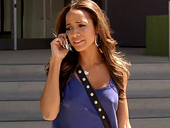 Dania Ramirez braless flashes hard nipples